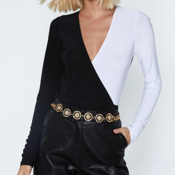 Nasty Gal Tops - Two Sides Wrap Bodysuit